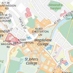 Map of Cambridge – Samuel Butler Room