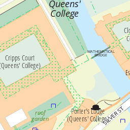 Queens College Map Of The University Of Cambridge